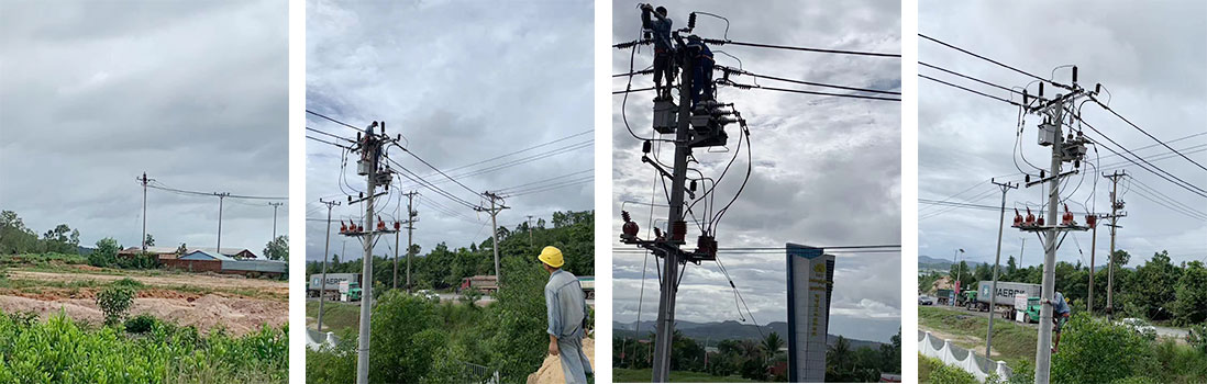 Installation of Outdoor Breakers for the Cambodian Special Zone
