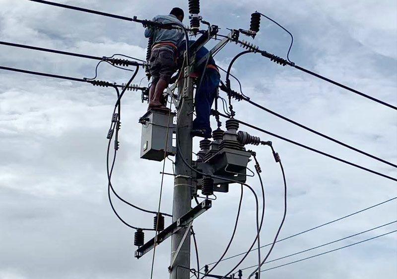 为柬埔寨特区安装户外断器