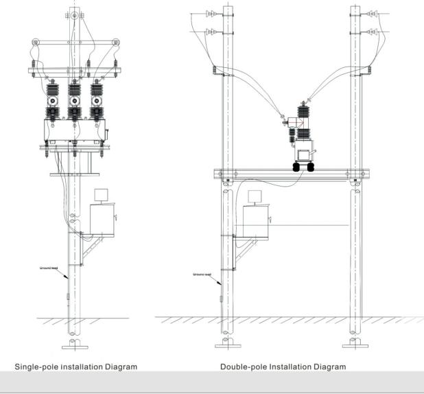 WSD-ZW32-24D Outdoor AC high voltage vacuum circuit breaker